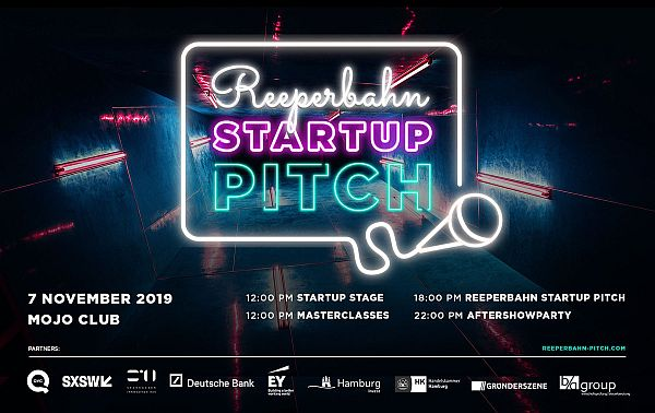 Hamburg Startups: Reeperbahn Startup Pitch: What you can expect at the Startup Stage Media